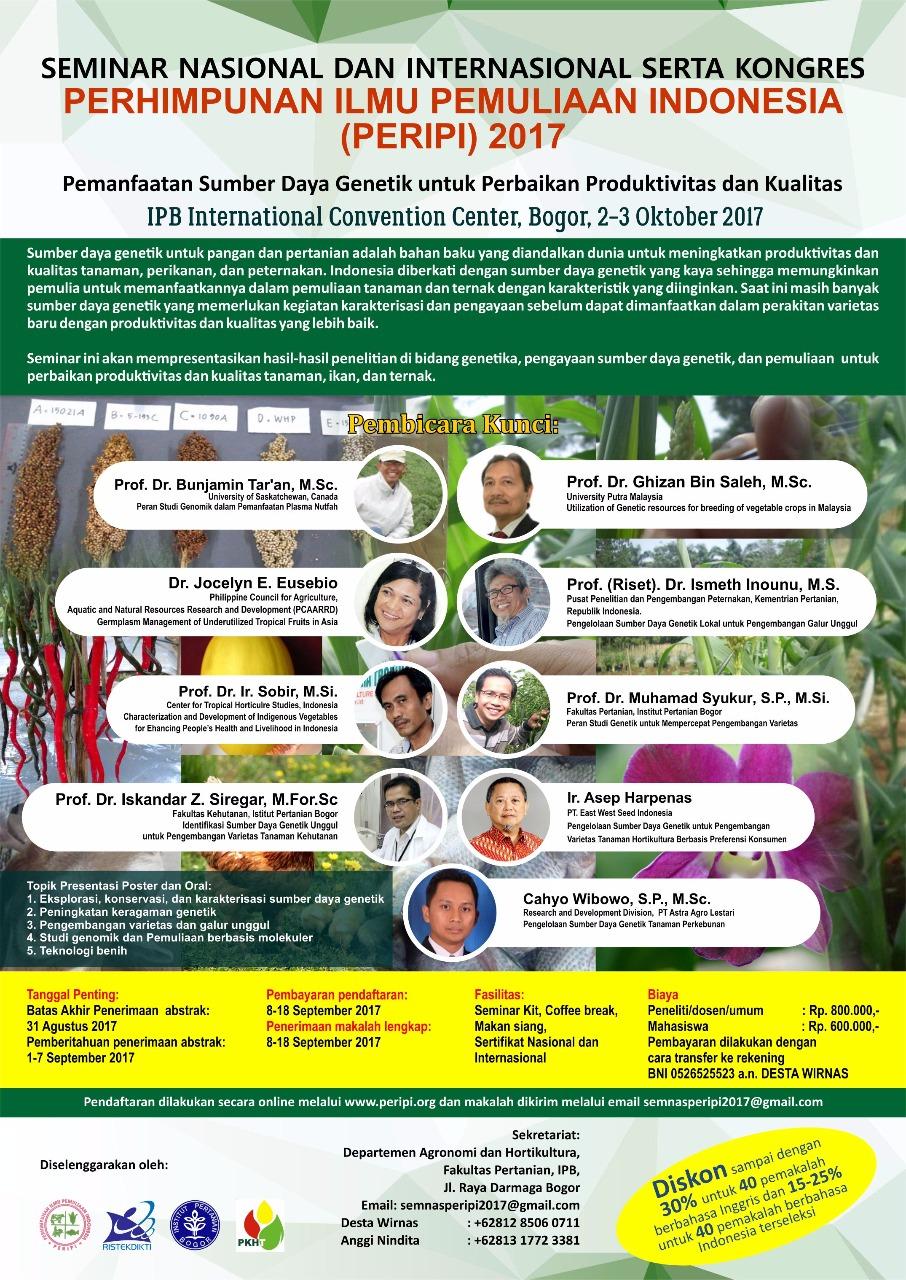Seminar Nasional dan Internasional serta Kongres PERIPI 2017